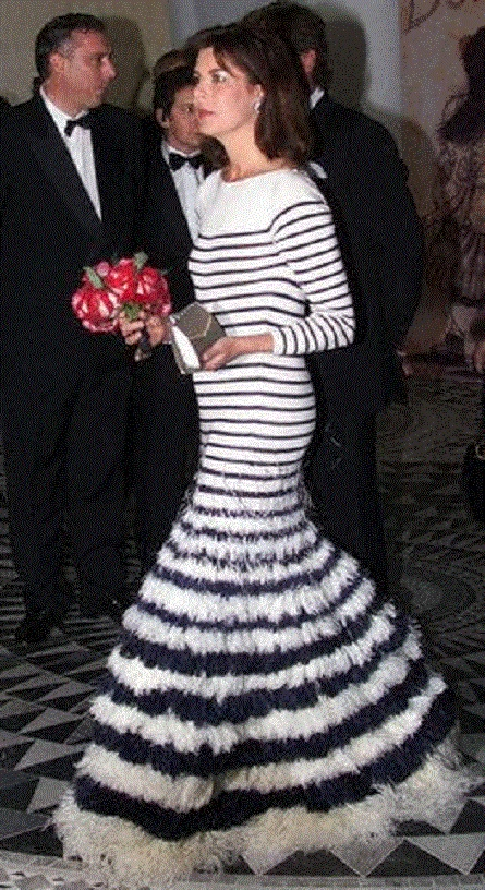 """Princess Caroline of Monaco at the Monte Carlo sporting club for the """"Bal de la Rose"""", a yearly charity event for the Princess Grace foundation 25 Mar 2000"""