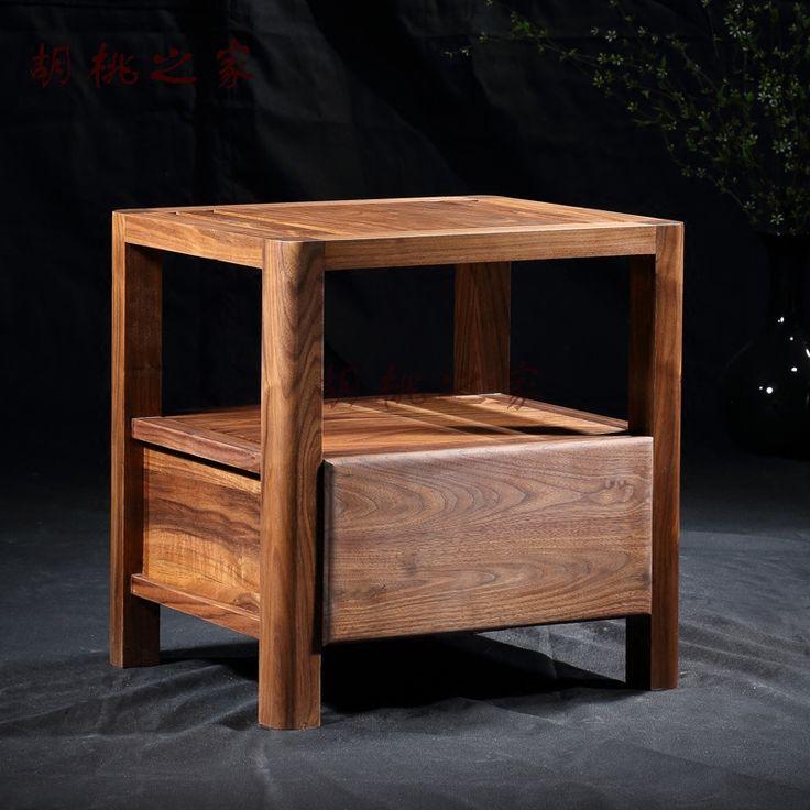 Дома грецкого ореха грецкого ореха стол стороне шкафа современной Китайской окружающей среды дерево воск деревянная мебель специальное предложение па