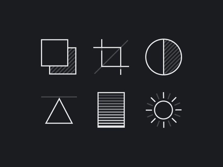 Precision Camera Icons - via @designhuntapp