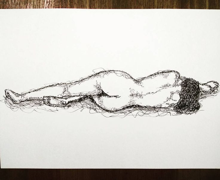 'Female Form' - using pen scribbles. . .  #pen #pendrawing #pensketch #ink #inkdrawing #inksketch #scribble #figure