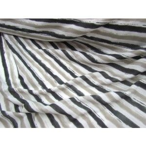 Seaside Stripe Jersey- Charcoal/Grey