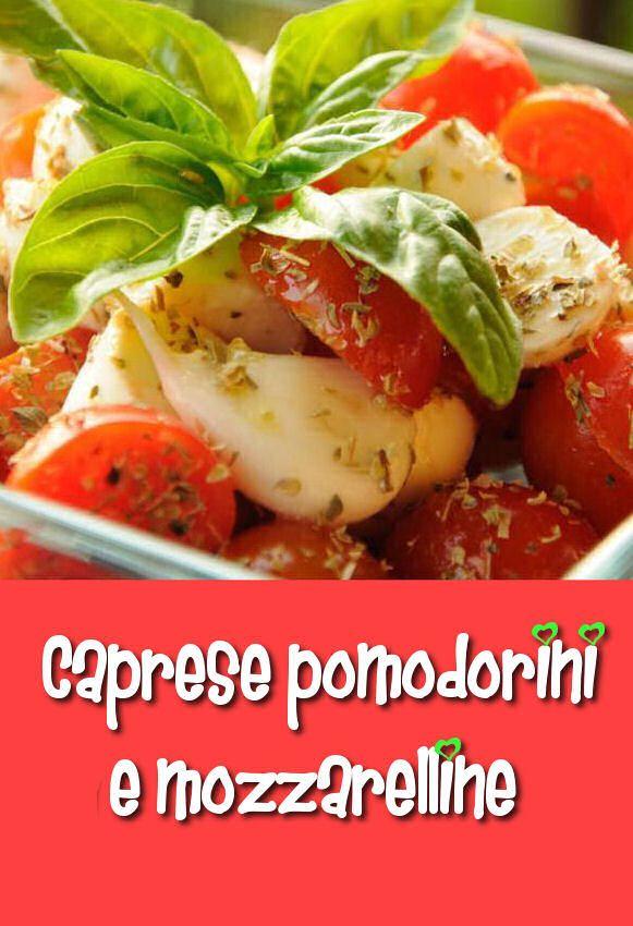 Caprese pomodorini e mozzarelline