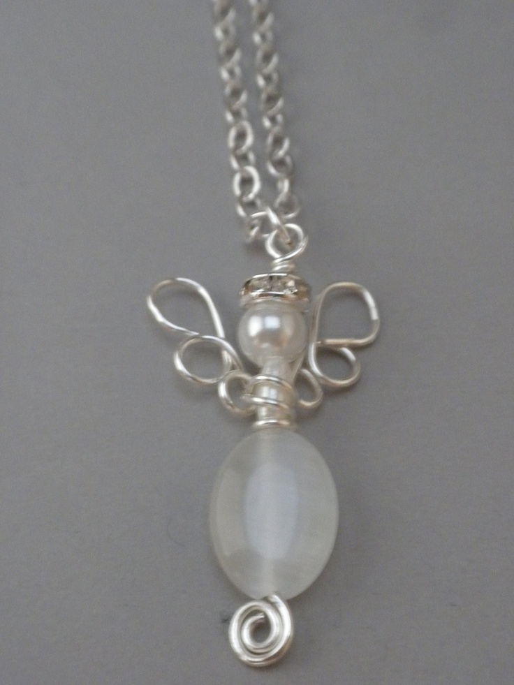 Wire Wrapped Angel in White and Silver. 20.00, via Etsy.