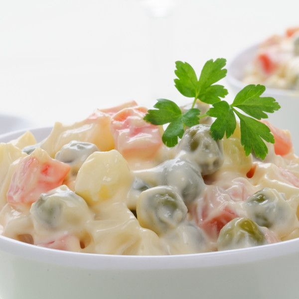 Russian Salad or Insalata Russa http://therealitalianfood.com/russian-salad-or-insalata-russa/