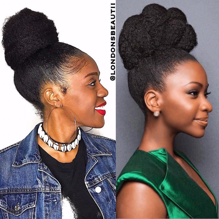 Natural Hair Updo With Marley Hair | www.pixshark.com