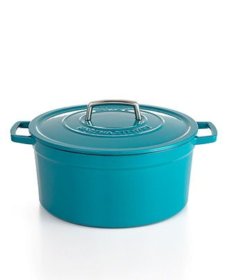Martha Stewart Collection Collector's Enameled Cast Iron Round Casserole, 8 Qt. - Cookware - Kitchen - Macy's