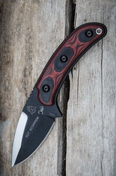 Tops Knives Sgt Scorpion EDC Fixed Blade Knife - Everyday Carry Gear Knife