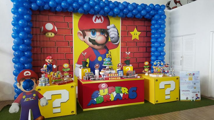Mario Bros Bday Candy Bar