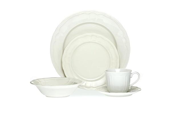 Noritake Baroque White casual dinner set. www.noritake.com.au