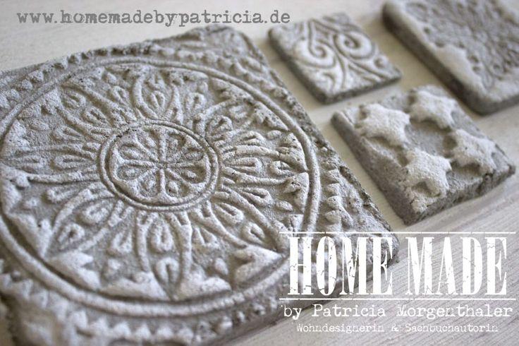 Betonfliesen selber machen, schnell und einfach. www.homemadebypatricia.de