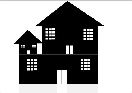 Individual House Silhouette for Skyline Illustration ...