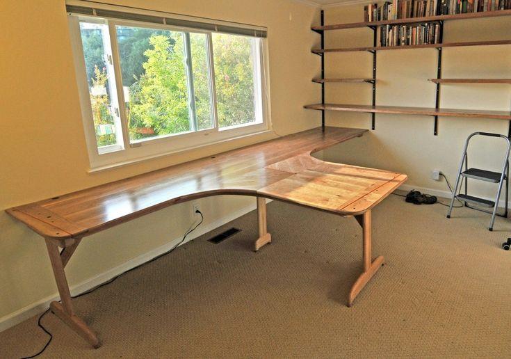 T Shaped Office Desks : Best T Shaped Desk Plans – Shaped Room Designs, Remodel and Decor