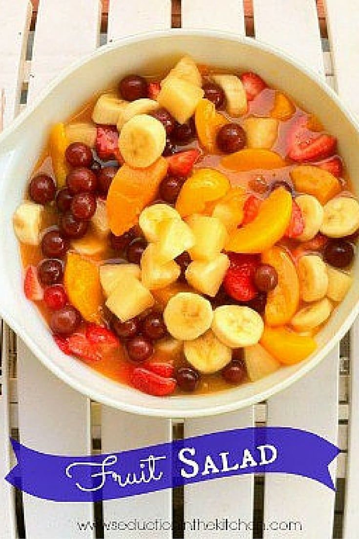 Fruit Salad is perfect for Summer gatherings! No affair would not be complete without a fruit salad.  via @SeductionRecipe