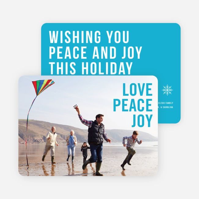 Big and Bold Text Holiday Cards from Paper Culture