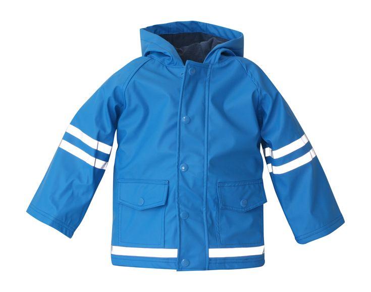 i Rock the Block Boys' Hi-Vis Rain Jacket  Teal