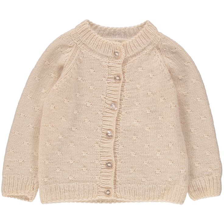 As worn by Princess Charlotte in her official first Birthday photos. This vintage inspired cardigan is made from 100% chunky 6 ply cashmere and can be handed down from sibling to sibling and generation to generation. For bigger sizes go to the girls range.