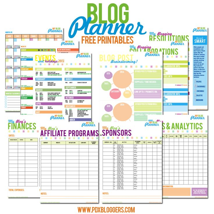 Free Printable Blog Planner - one of the best and most thorough I've seen!
