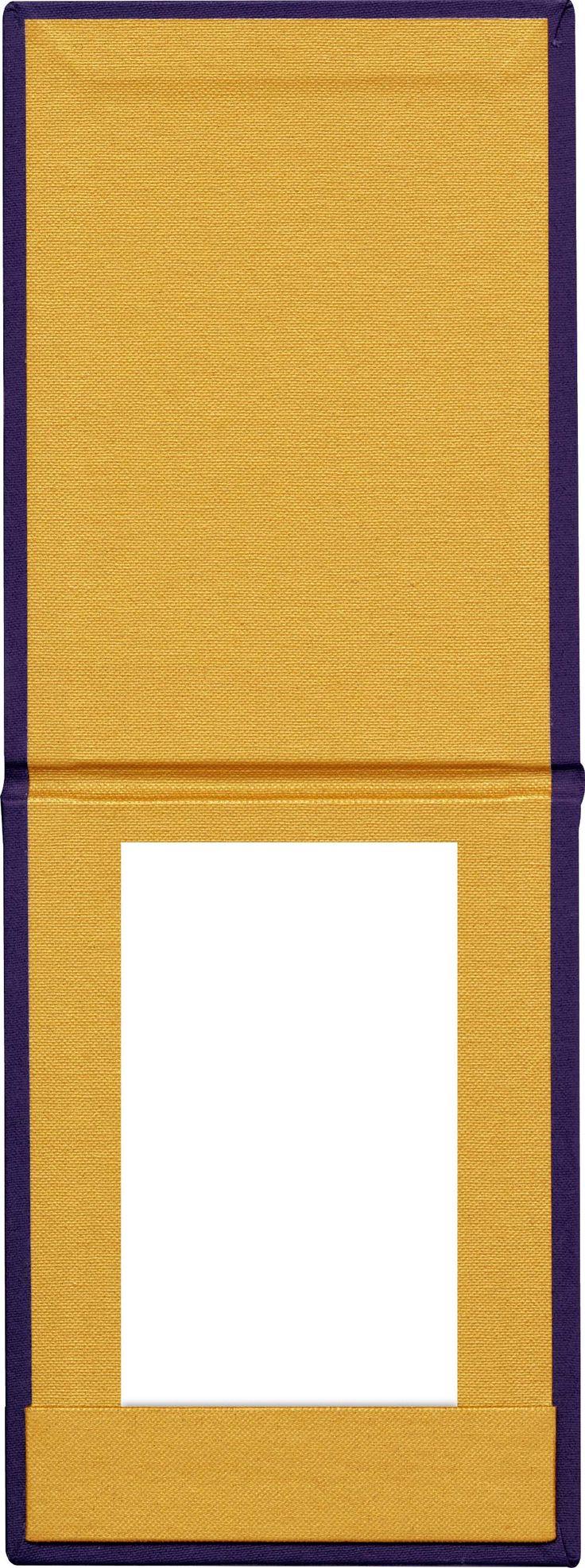 Bill Presenter   Purple Buckram - Gold Buckram - Strip Pocket - Notepad Style