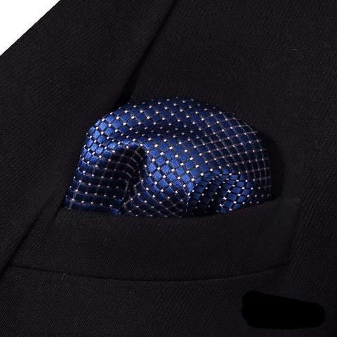 20 Variations Plaid Type Silk Pocket Square