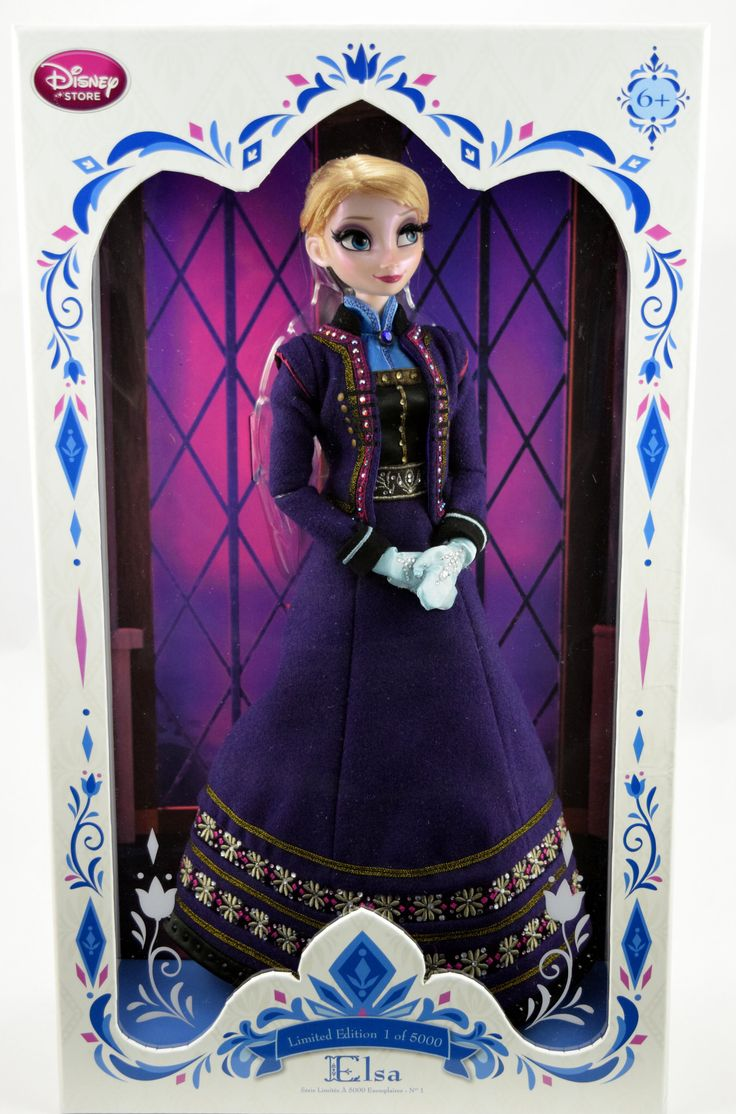2015 Limited Edition Elsa 17'' Doll - Frozen - US Disney Store Purchase - Boxed - Full Front View