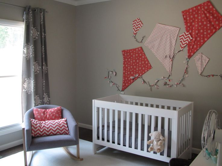 We love chevron in an Embrace Space. #EessentialEmbraceWall Art, Art For Nurseries,  Cot, Baby Girls, Kite Wall, Girls Nurseries, Nurseries Ideas, Fabrics Kite, Fabrics Wall