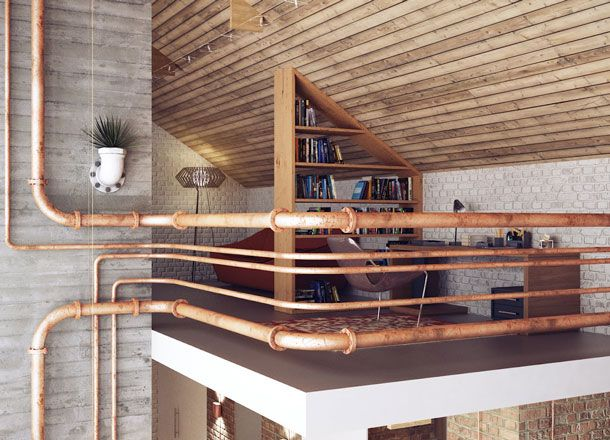 Read on for 11 easy industrial interior design style ideas that will transform a drab pad into the 'loft' of your dreams.