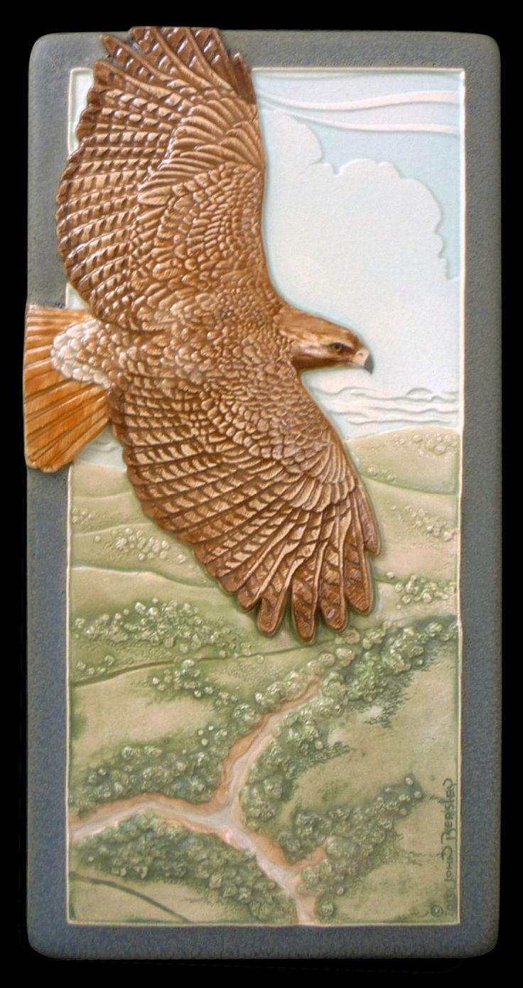 3972 best tiles images on pinterest diy activities and architecture red tail red tailed hawk ceramic tile wall decor 4 x 8 dailygadgetfo Image collections