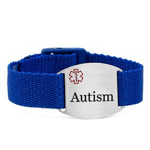 Strapping in blue...Autism bracelets for kids and adults.  This Autism bracelet is adjustable and durable, plus easy to wash!