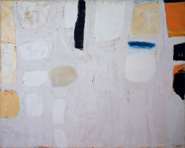 William Scott, White Floating Forms, 1960, Oil on canvas, 101.6 × 127.6 cm / 40 × 50¼ in, Private collection