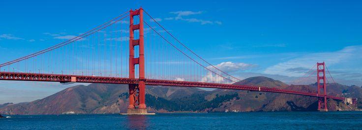 Panoramic View of Golden Gate Bridge in San Francisco