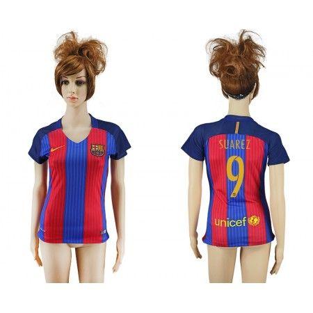 Barcelona Fotbollskläder Kvinnor 16-17 Luis #Suarez 9 Hemmatröja Kortärmad,259,28KR,shirtshopservice@gmail.com