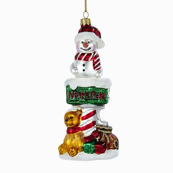 North Pole Sign Ornament