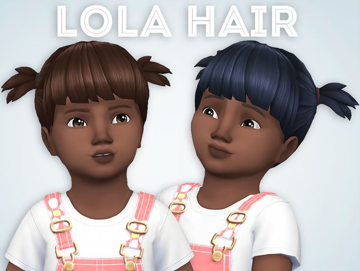 Lola Hair   Comes in all EA colors available for toddlers  Hat Compatible  Base-Game Compatible  Only available for toddlers  Retexturing...