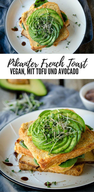 Mein Rezept für Pikanter French Toast vegan mit Avocado und Kala Namak - perfekt für's Frühstück oder als kleines Mittagessen.