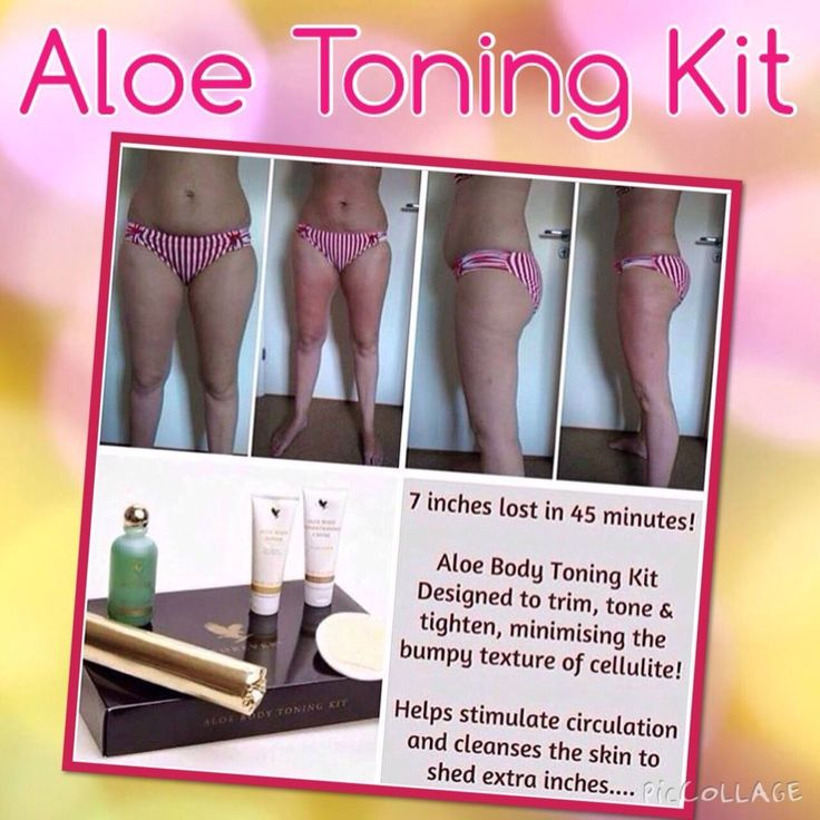 "Aloe Body Toning Kit- Indulge yourself with an at-home body wrap  designed to help trim, tone and tighten, minimizing the appearance of cellulite. European herbal  complexes and natural warming agents are your  ""secret weapons"" in the war against the unsightly   appearance of cellulite."