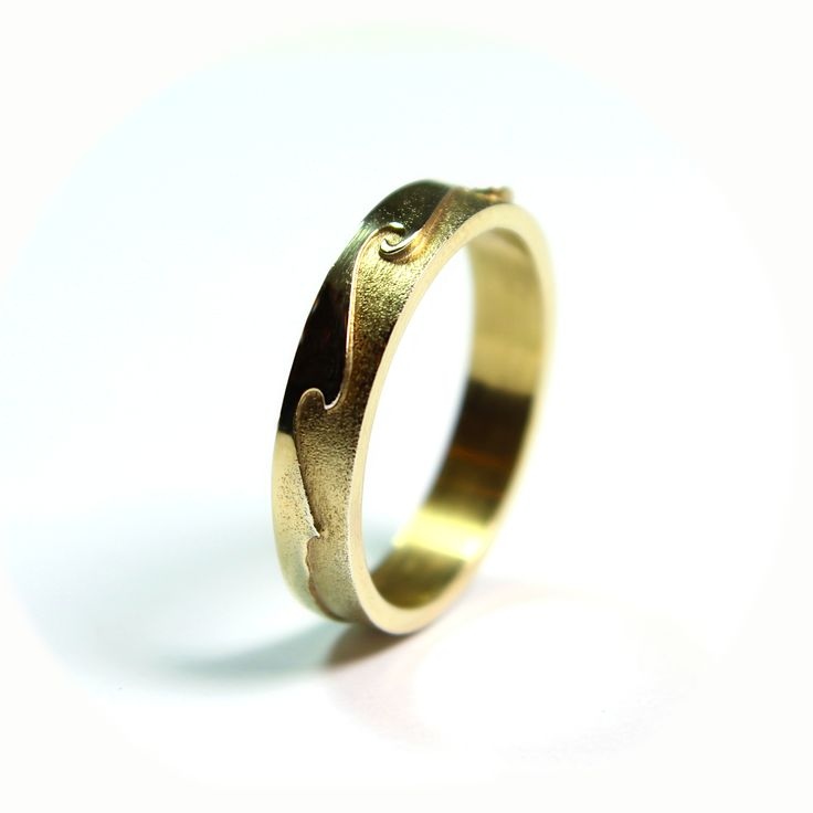 Carved Sea wedding ring....