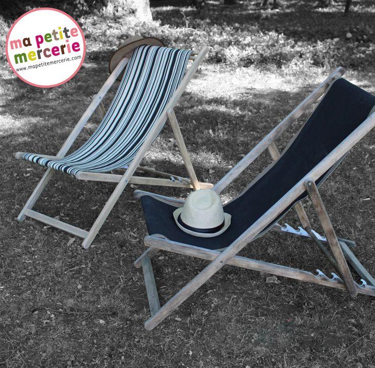Habillez, restaurez, personnalisez votre chilienne grâce à notre tutoriel pas à pas http://blog.mapetitemercerie.com/diy-ma-chilienne-dete/ et à nos toiles transat http://www.mapetitemercerie.com/486-toiles-transat !   Dress, customize and personalize your deck chair thanks to our tutorial http://blog.mapetitemercerie.com/diy-ma-chilienne-dete/ and deck chair cotton canvas http://www.mapetitemercerie.com/486-toiles-transat  #deckchair #transat #chilienne #chaiselongue #diy #summer