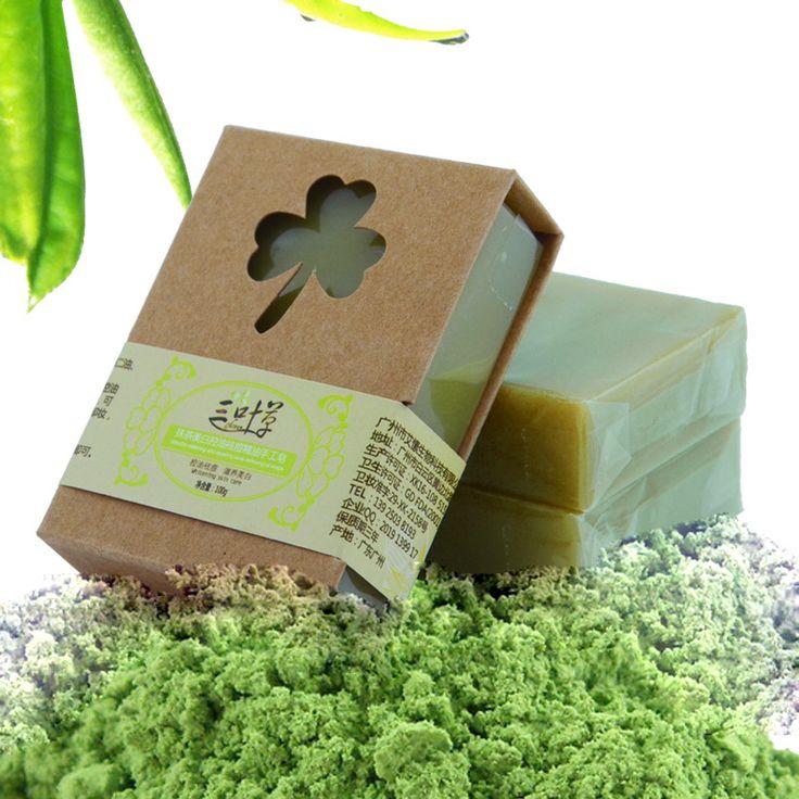 100g Organische Handgemaakte Matcha Groene Thee Poeder Zeep Whitening Hydraterende Reiniging Zeep Verwijderen Acne Reiniging Bad Bar Zeep