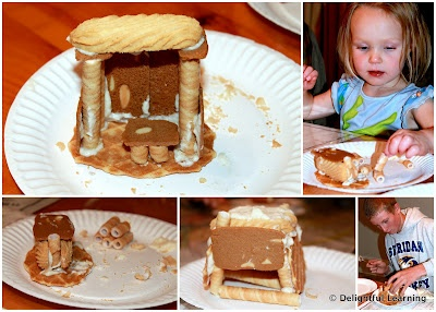 Learn about the Feast of Tabernacles and make this edible sukkah (butter cookies, wafer cookies, frosting) Sept. 30-Oct. 8, 2012