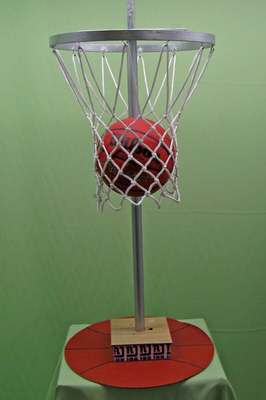 how to make a mini basketball net out of yarn