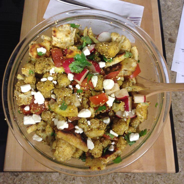 Cauliflower and quinoa salad with feta