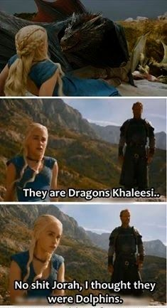 #GameOfThrone Ser Jorah They Are Dolphins, Khaleesi Meme