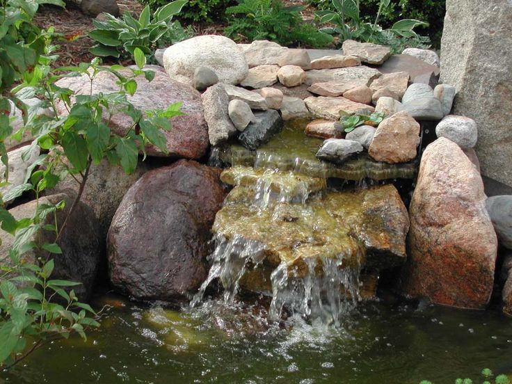 Small pond waterfall garden ponds pinterest - How to build a swimming pool waterfall ...