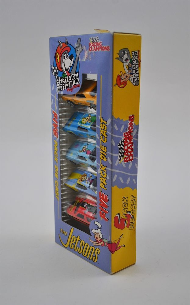 Racing Champions Cartoon Network The Jetsons 5 Pack Die Cast Cars MIB 2000 #RacingChampions