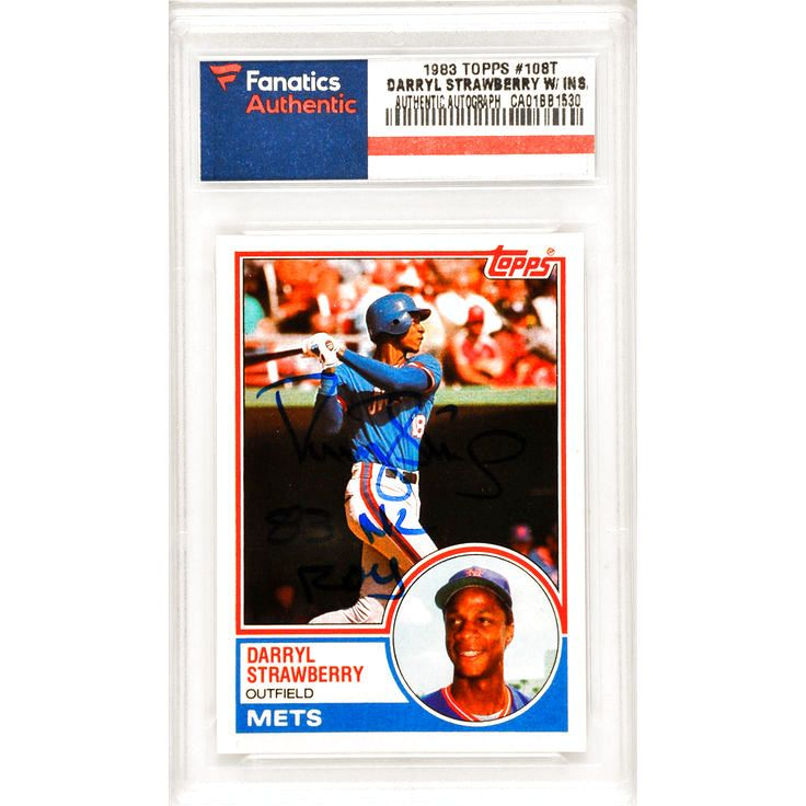 Darryl Strawberry New York Mets Fanatics Authentic Autographed 1983 Topps Traded Rookie #108T Card with 83 NL ROY Inscription - $143.99