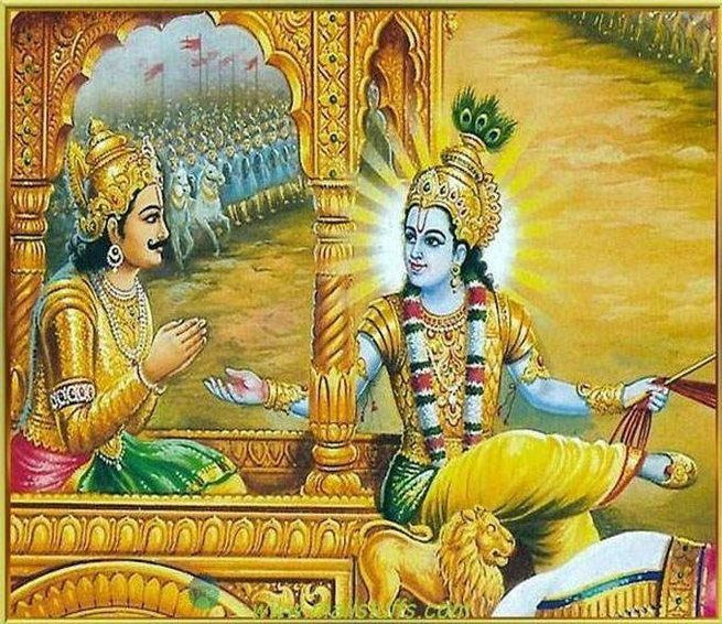 ***Bhagavad Gita - 2.13*** As the embodied soul continuously passes, in this body, from boyhood to youth to old age, the soul similarly passes into another body at death. A sober person is not bewildered by such a change.  #BhagavadGita #LordKrishna #Spirituality #Quotes