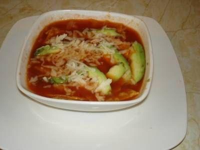 Sopa de tortilla tipo chihuahua