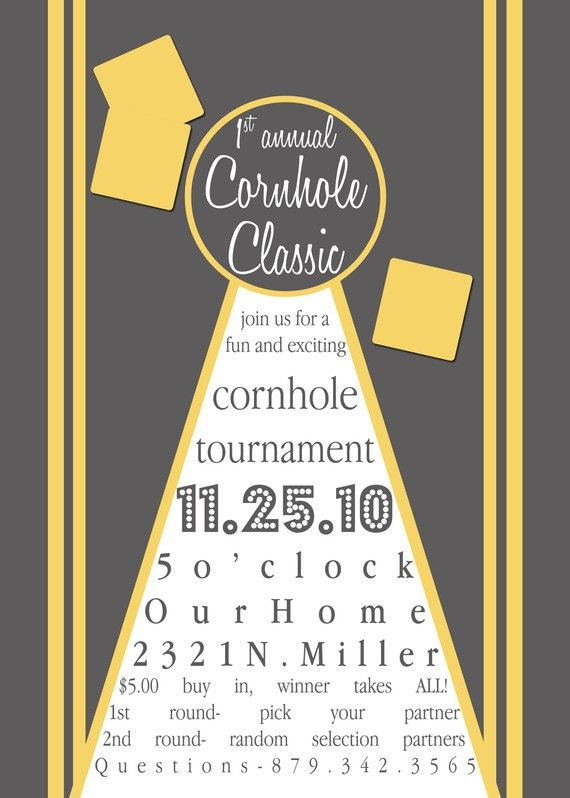 Cornhole Classic... sounds fun!
