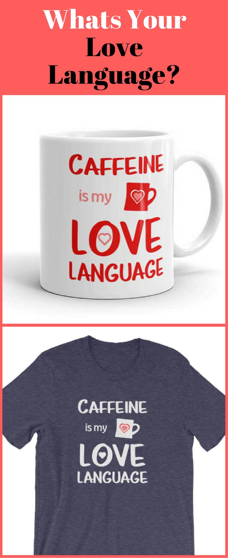 Whats your Love Language?  What a cute mug & shirt idea, I swear like a sailor and love coffee, no apologies!  #mugs #lovelanguage #test #qualitytime #actsofservice #physicaltouch #wordsofaffirmation #gifts  | https://www.etsy.com/shop/HippieHooplaGifts