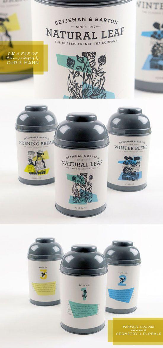 Chris Mann, natural leaf tea packaging